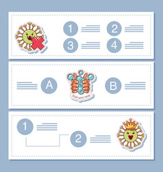 Coronavirus covid19 19 infographic banners vector