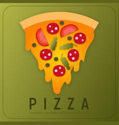design of pizza box vector image
