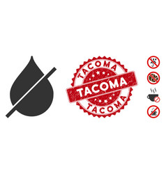 Dry icon with grunge tacoma seal vector