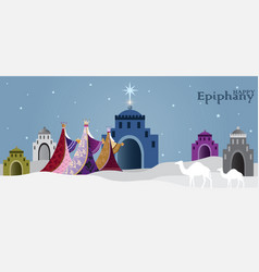 epiphany is a christian festival vector image
