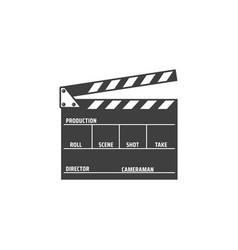 film production clapper board isolated desk icon vector image