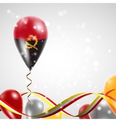 Flag of Angola on balloon vector