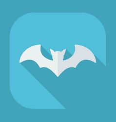 Flat modern design with shadow bat vector