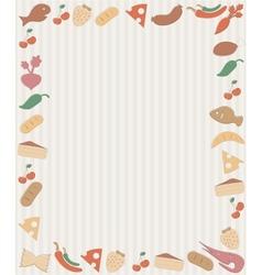 Food frame vector image