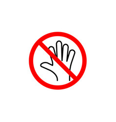 forbidden touch icon can be used for web logo vector image