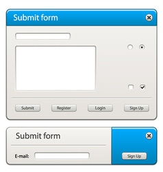 form elements - easy change any width or height vector image