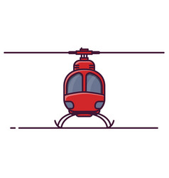 front view of small helicopter vector image