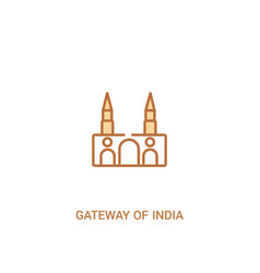 Gateway india concept 2 colored icon simple vector