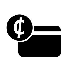 ghana cedi credit card icon vector image