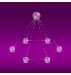glass balls pyramide 2 vector image vector image