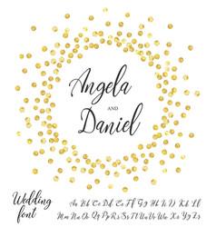 gold circle font vector image