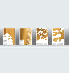 golden exotic cover vector image