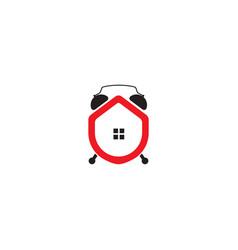 Home alarm logo design template vector