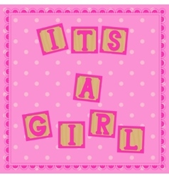 Its a girl card with cubs vector