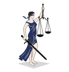 Lady justice law vector