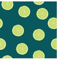 Lime slice pattern seamless pantone vector