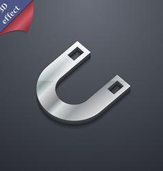 Magnet horseshoe icon symbol 3D style Trendy vector