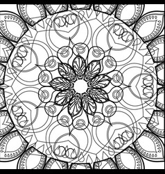 Mandala ethnic detailed relaxation scheme pattern vector