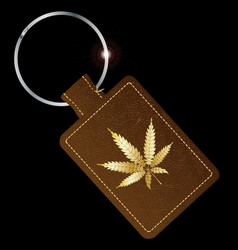 Marijuana key fob vector