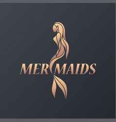 mermaid logo icon design vector image