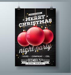 Merry christmas night party vector