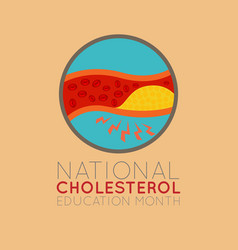 National cholesterol education month logo icon vector