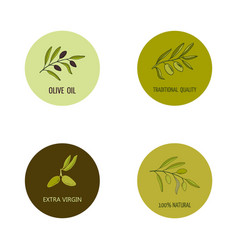 Olive oil labels vector