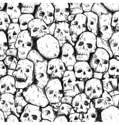 Pattern of human skulls vector