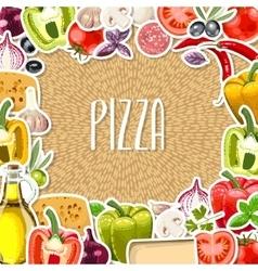 Pizza ingredients vector