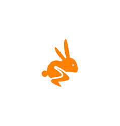 rabbit logo template icon symbol vector image