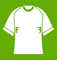 Raglan tshirt icon green vector