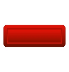 Red rectangle button icon flat style vector image