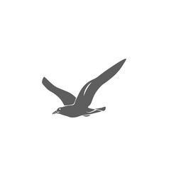 Seagull icon in flat style isolated vector