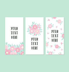 Set of greeting card templates vector