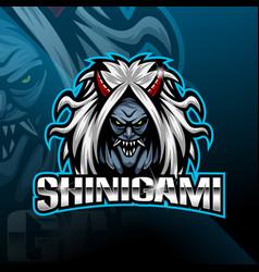 shinigami sport mascot logo design vector image