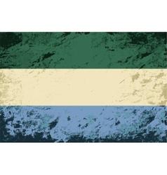 Sierra Leone flag Grunge background vector
