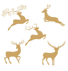 silhouette deer on white background silhouette vector image
