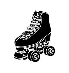 Silhouette roller skate nineties retro vector