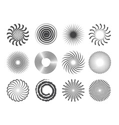 spiral design circles swirls and stylized vector image