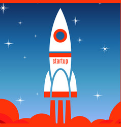 startup concept background with spaceship vector image