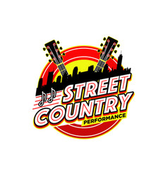 Street country music performance logo symbol badge vector