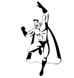superhero in flying pose vector image