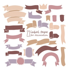 tape set of labels vector image