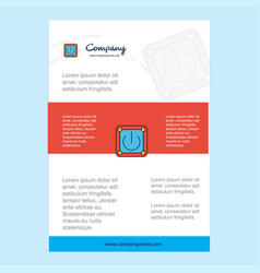 template layout for power button comany profile vector image