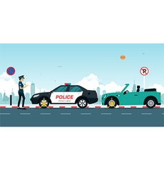Traffic ticket vector