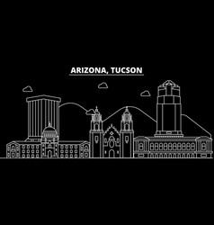 tucson silhouette skyline usa - tucson vector image