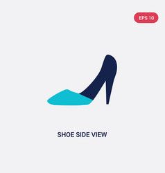 two color shoe side view icon from fashion vector image