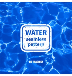 Water seamless pattern background vector