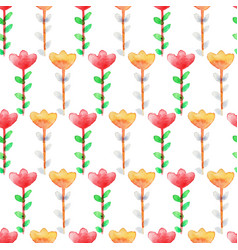 watercolor floral seamless pattern colorful vector image