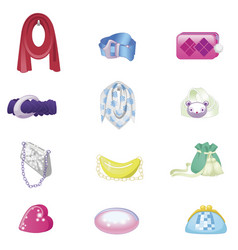 woman accessories set collection of accessories vector image